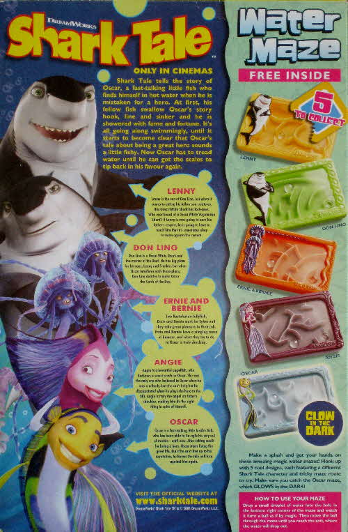 2004 Coco Pops Shark Tale Water Mazes