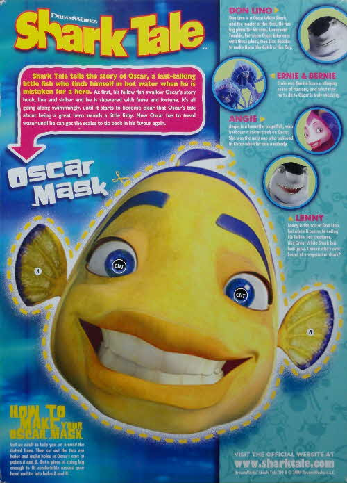2004 Coco Pops Shark Tales Oscar mask