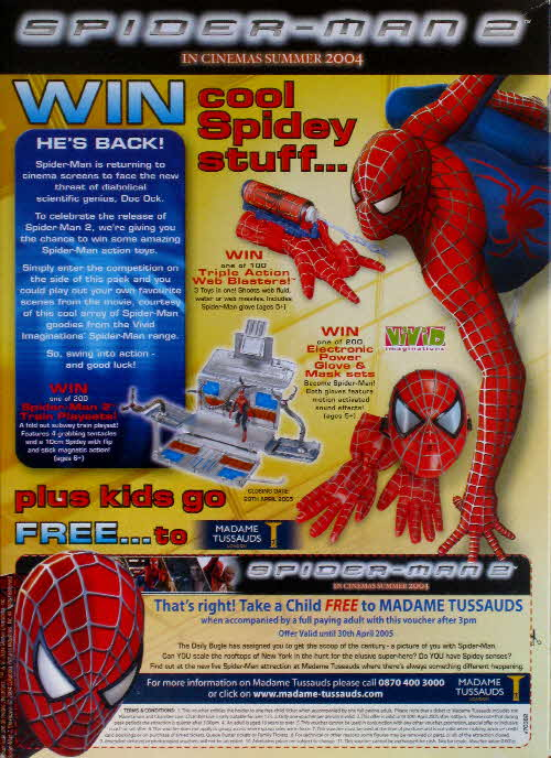 2004 Coco Pops Spidermand 2 Competition