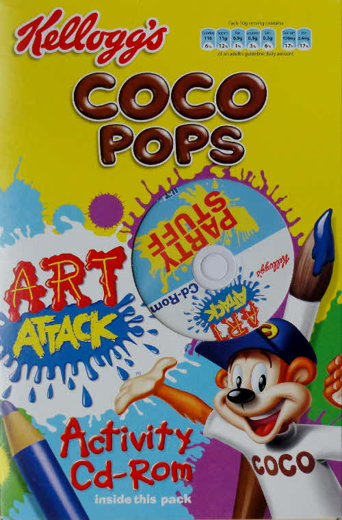 2006 Coco Pops Art Attack CD Rom front