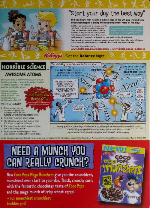 2006 Coco Pops Horrible Science Awesome Atoms