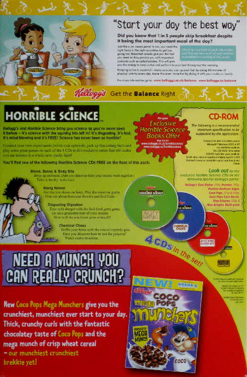 2006 Coco Pops Horrible Science CD Rom (2)