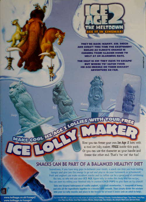 2006 Coco Pops Ice Age 2 Lolly Maker