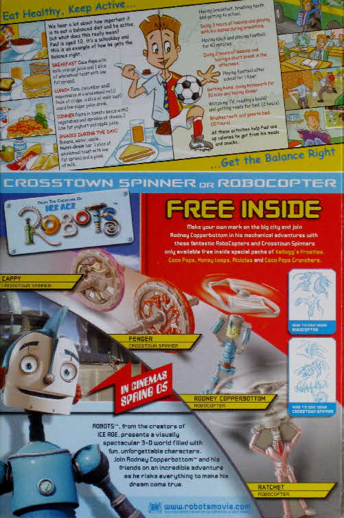 2005 Coco Pops Robots Spinners