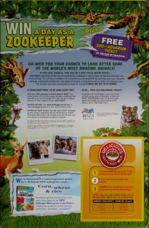 2008 Coco Pops Zookeeper for a Day competition