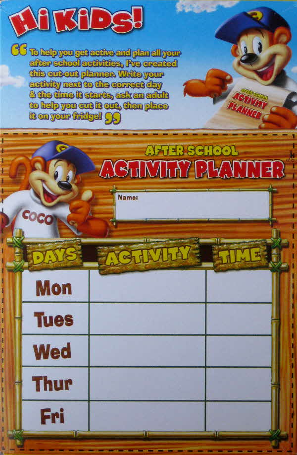 2010 Coco Pops Activity planner