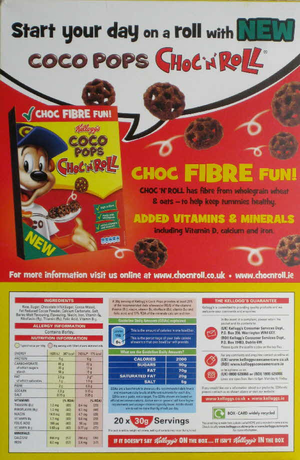 2010 Coco Pops new Choc n Roll