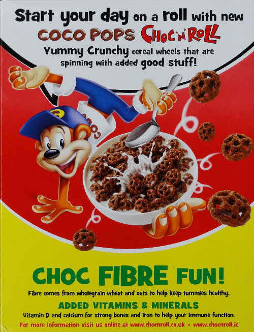 2010 Coco Pops Choc n Roll New back