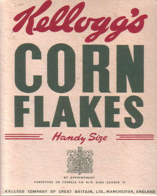 1950s Cornflakes packet front
