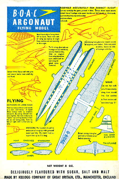 Cornflakes BOAC Argonaut Flying Model