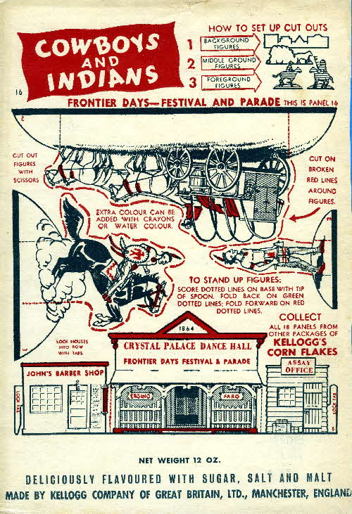 1952 Cornflakes Cowboys & Indians no 16 Frontier Days festival & parade