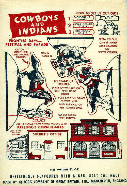 1952 Cornflakes Cowboys & Indians no 17 Frontier Days festival & parade