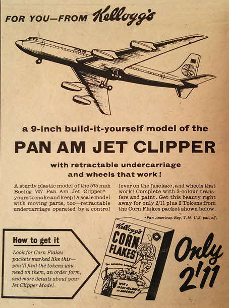 1958 Cornflakes Pan Am Clipper Model