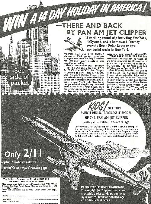 1959 Cornflakes Pan Am Jet Clipper (betr)