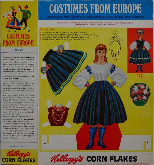 1968 Cornflakes Costumes from Europe  No 10 Poland