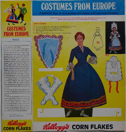 1968 Cornflakes Costumes from Europe  No 4 France