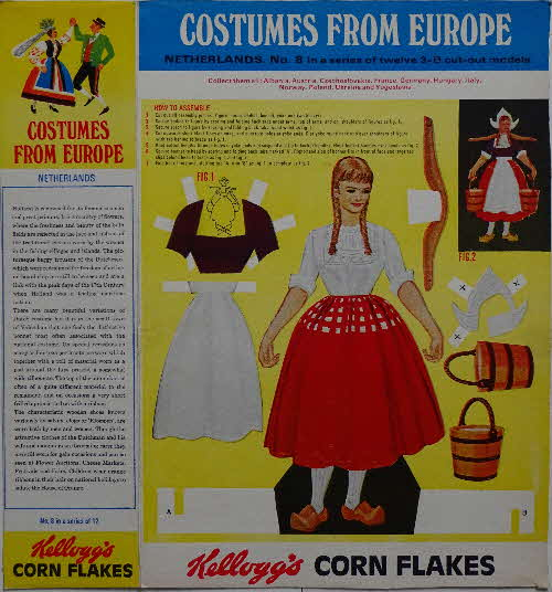 1968 Cornflakes Costumes from Europe  No 8 Netherlands