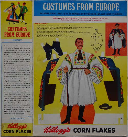 1968 Cornflakes Costumes from Europe No 6 Hungary