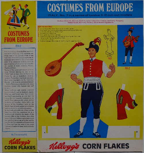 1968 Cornflakes Costumes from Europe No 7 Italy