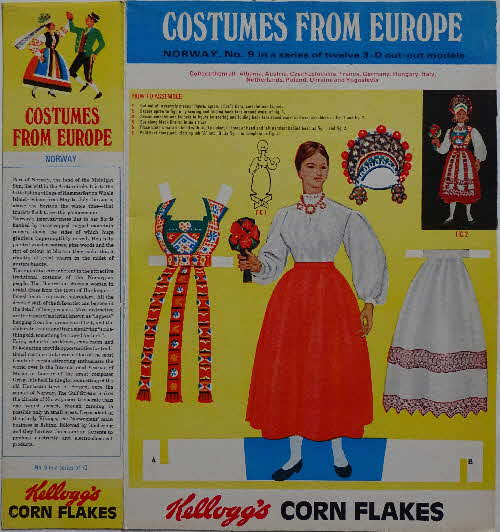 1968 Cornflakes Costumes from Europe No 9 Norway