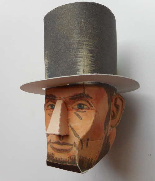 1966 Cornflakes Heads of Fame No  11 Abraham Lincoln made (4)