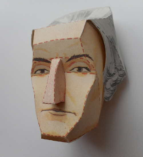1966 Cornflakes Heads of Fame No 7 George Washington made (2)
