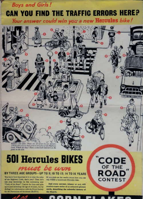 1950s Cornflakes Hercules Bike Competition