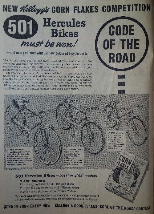 1960 Cornflakes Hercules Bike Competition