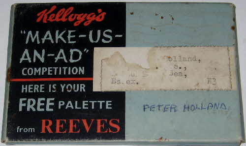 1959 Cornflakes Make us an Ad Reeves Paint Pallet  (1)