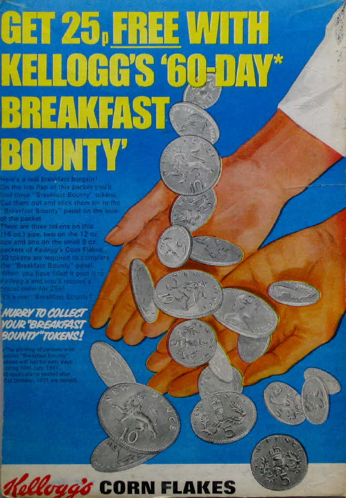 1970s Cornflakes 25p Breakfast offer