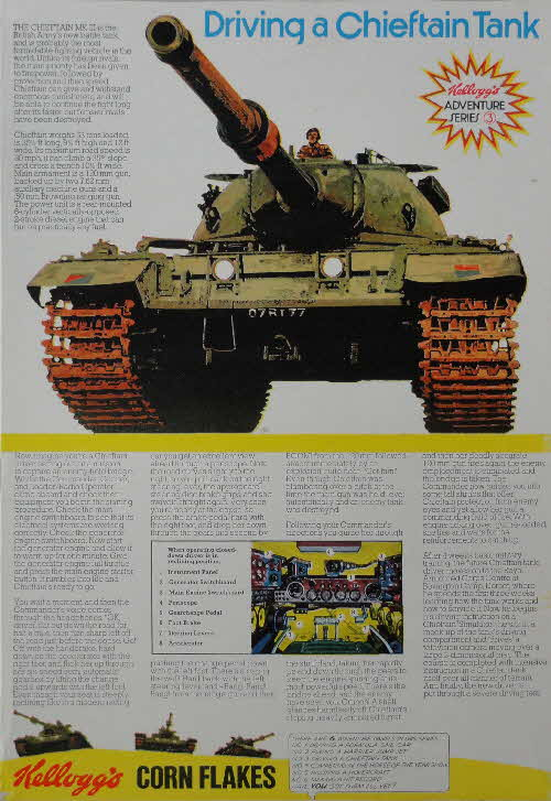 1972 Cornflakes Adventure series No 3 Driving a Chieftain tank