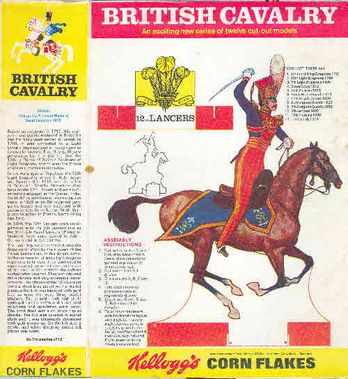 1970 Cornflakes British Cavalry 12th Lancers