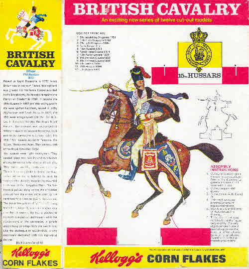 1970 Cornflakes British Cavalry 15th Hussars