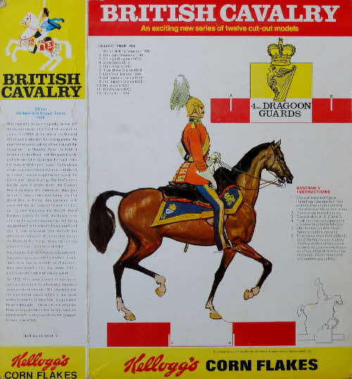 1970 Cornflakes British Cavalry 4th Dragoon Guards