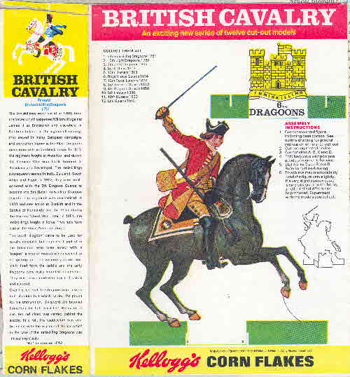 1970 Cornflakes British Cavalry 6th Dragoons