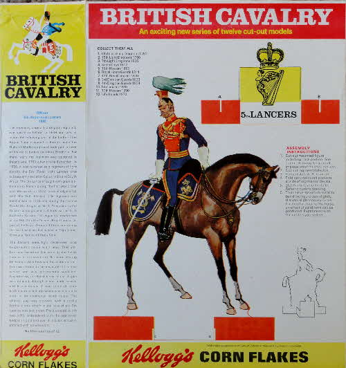 1970 Cornflakes British Cavalry No 10 5th Lancers 2