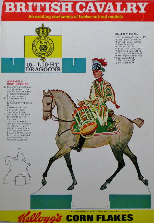1970 Cornflakes British Cavalry No 2 15th Light Dragoons