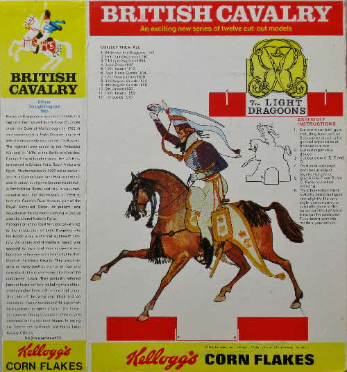 1970 Cornflakes British Cavalry No 3 7th Light Dragoons