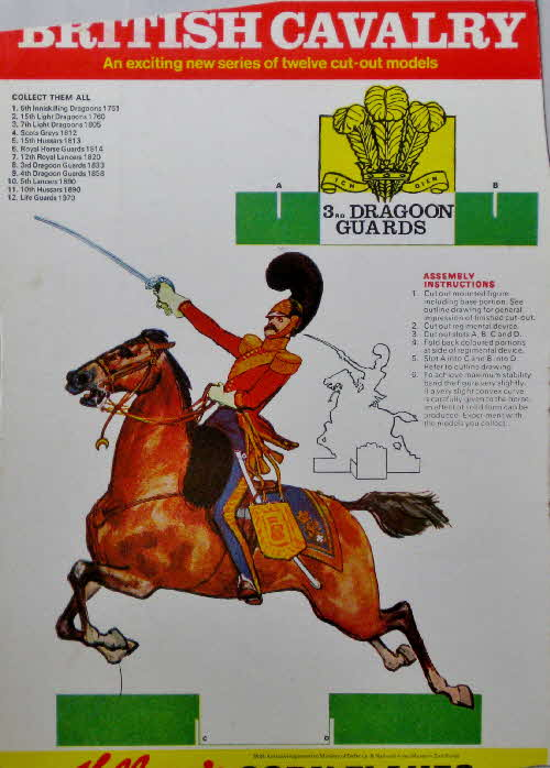 1970 Cornflakes British Cavalry No 8 3rd Dragoons Guards