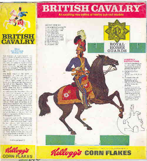 1970 Cornflakes British Cavalry Royal Horse Guards