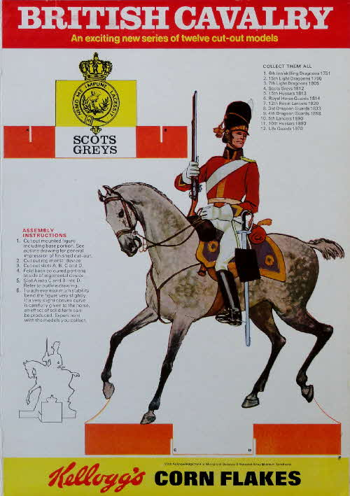 1970 Cornflakes British Cavalry Scots Greys