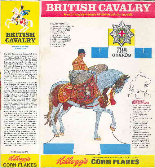 1970 Cornflakes British Cavalry The Life Guards