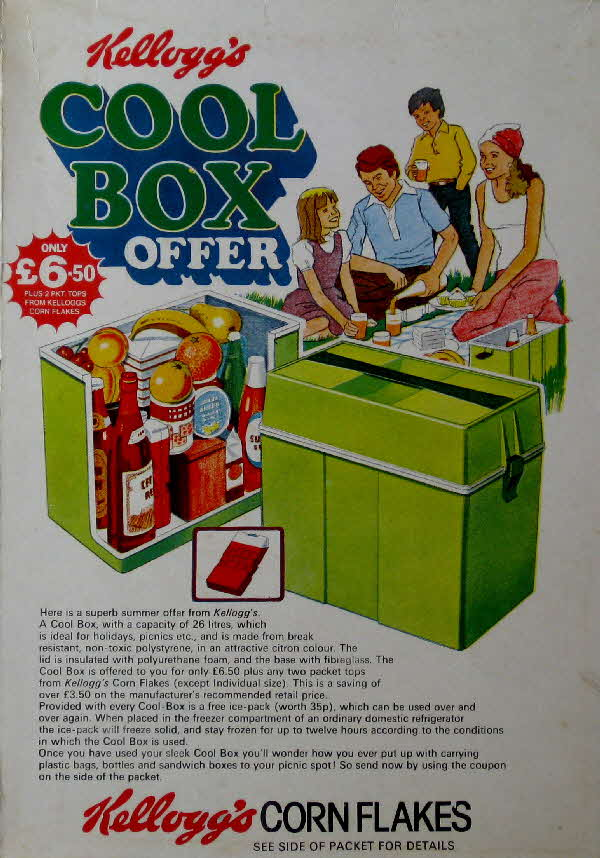 1970s Cornflakes Cool Box Offer