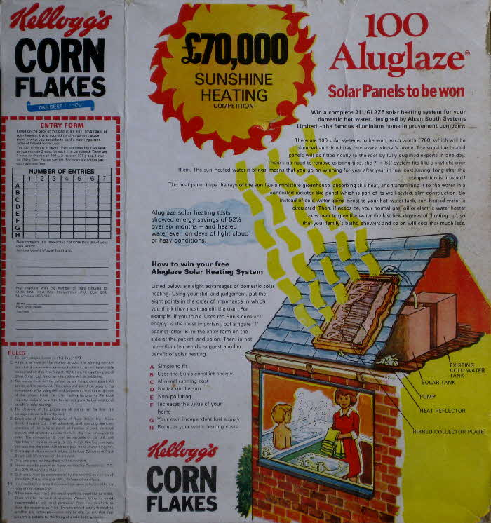 1978 Cornflakes Solar Panels Competition