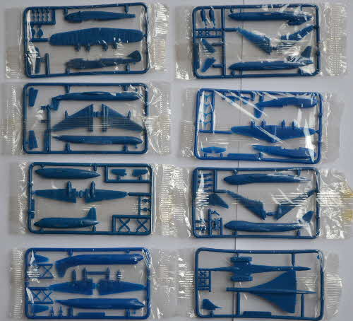 1985 Cornflakes Airliner Model Kits - blue mint