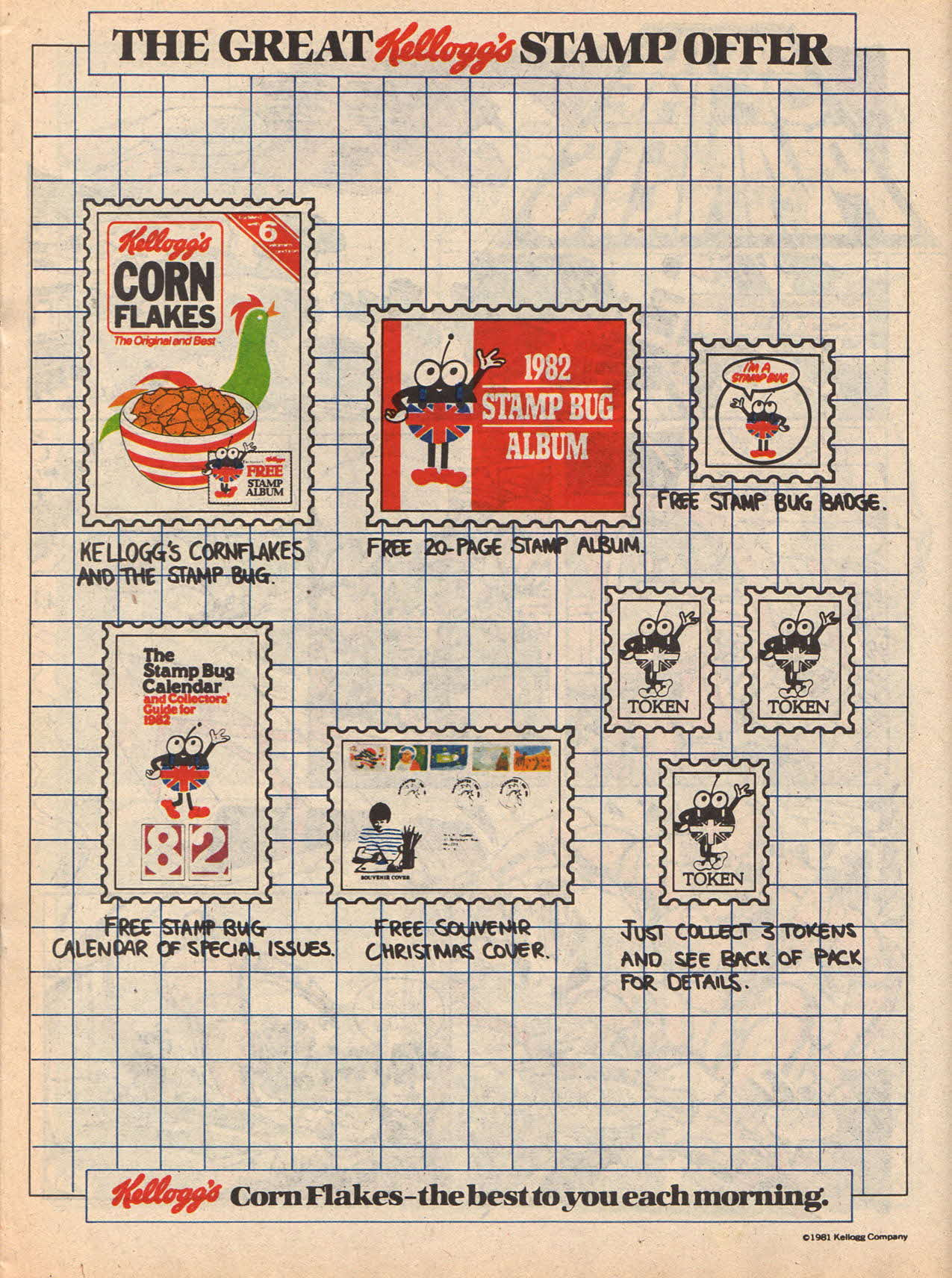 1981 Cornflakes Stamp Offer Christmas