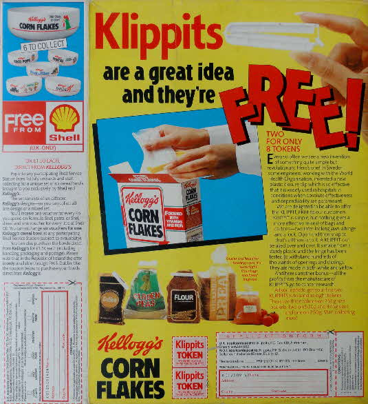 1987 Cornflakes Klippits & Bowl offers