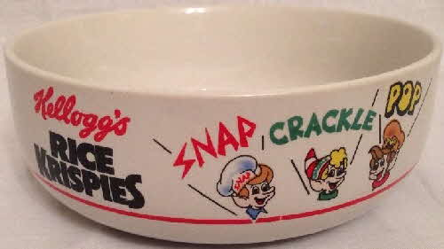 1987 Kelloggs Shell promotional bowls Rice Krispies