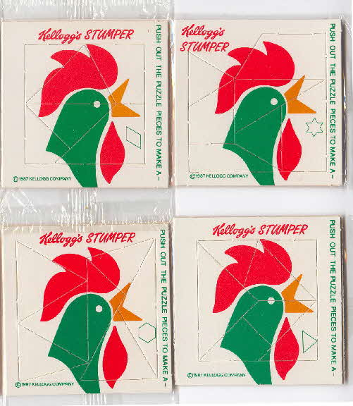 1987 Cornflakes Stumper cards with writing type1