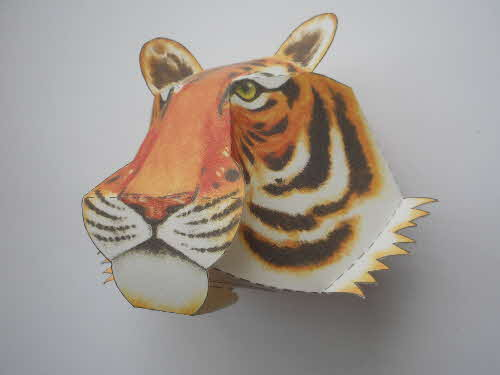 1992 Cornflakes Animal Heads Tiger made (3)